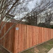Redwood Dogeared fence - newl installed